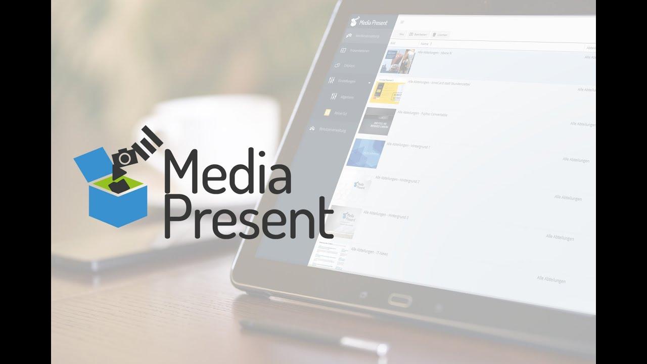 Media Present - digitale Anzeigen einfach verwalten