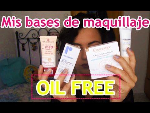 Mis bases de maquillaje OIL FREE (Piel grasa)