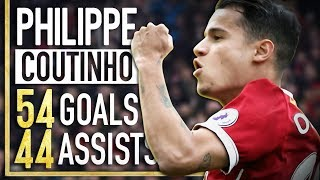 Philippe Coutinho - All 54 Goals & 44 Assists for Liverpool FC - 2013-2017