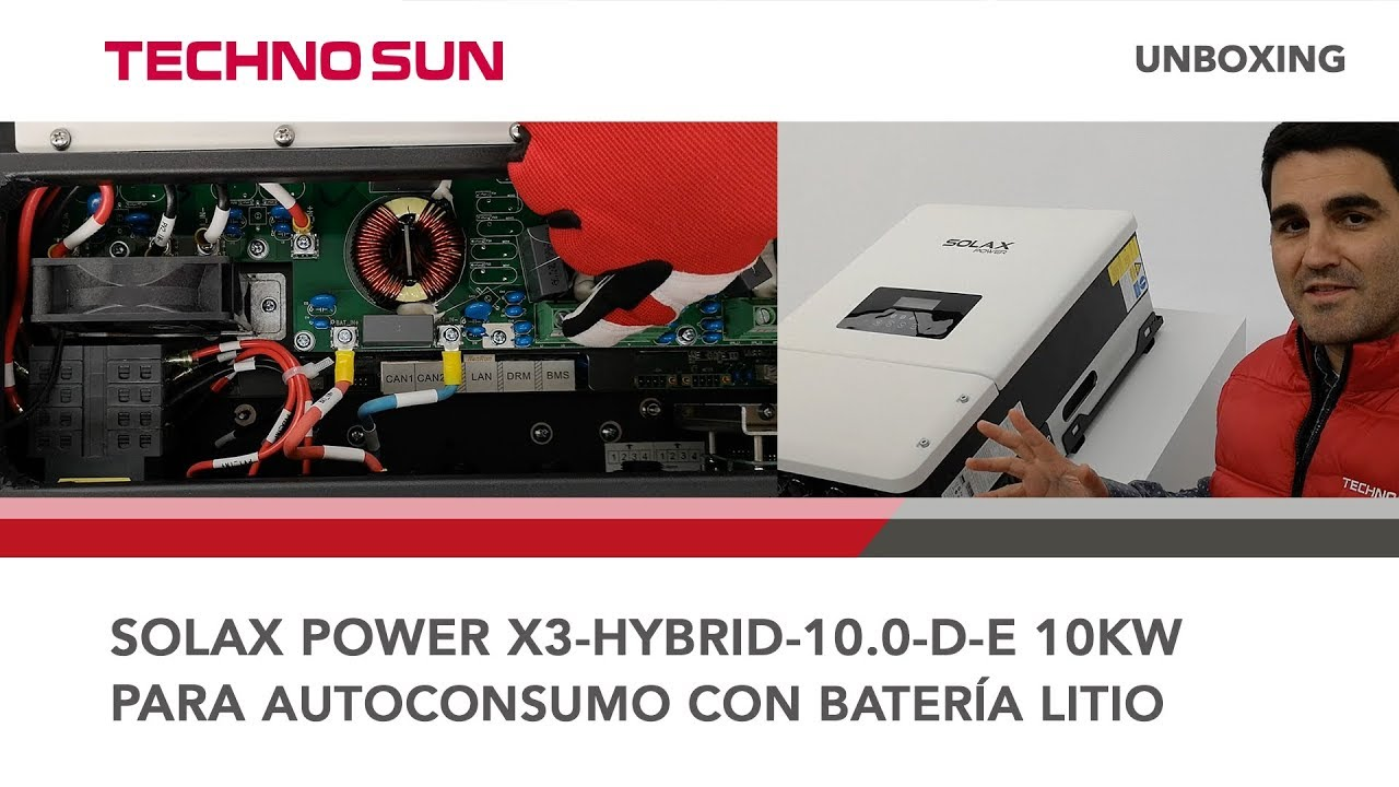 Hybrid inverter Solax Power X3-Hybrid three-phase of 10kW for  self-consumption-Lithium batteries