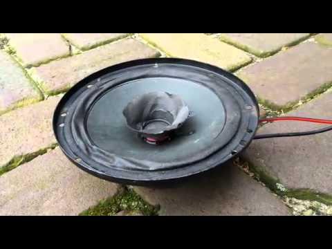 Old bad speaker blow up