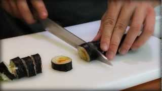 How To Cut Suṡhi Rolls