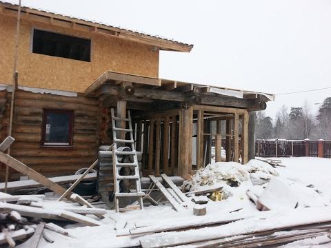перестройка деревянного дома каркас пристройки