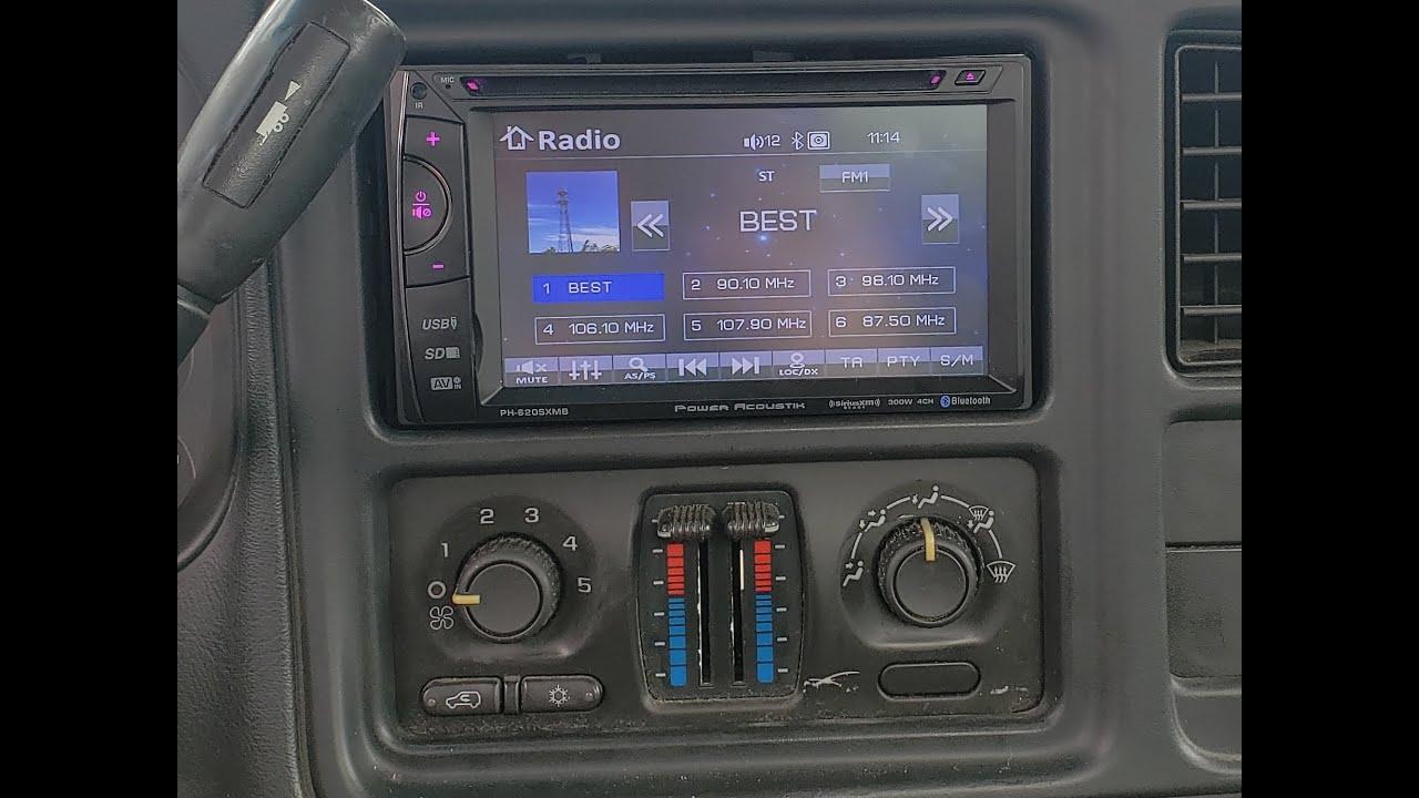 double din radio install  chevy silverado  youtube