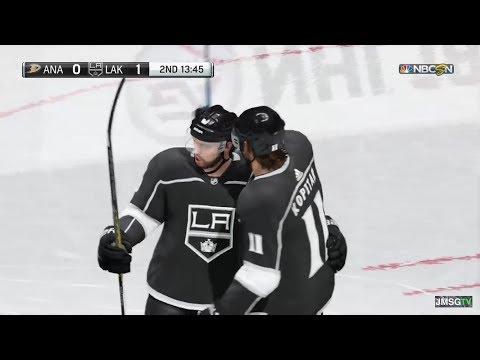 NHL 18 LA KINGS VS DUCKS GAMEPLAY!!