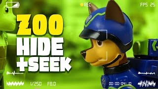 Paw Patrol Toys - Zoo Hide and Seek with Spy Chase - a Paw Patrol Toys Video Parody