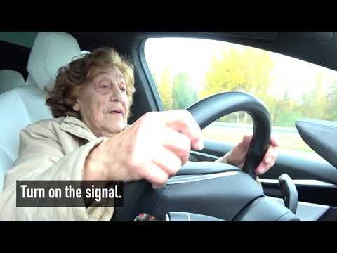 92 year-old Roosi gets to drive a Tesla Model X: 'I'll take it!'