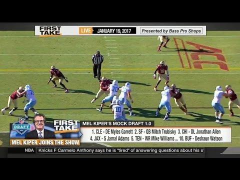 ESPN First Take - Mel Kiper Jr. On Top 10 NFL Mock Draft 2017
