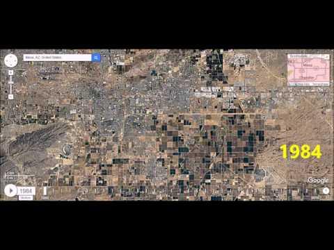 Mesa, Arizona - Urban Sprawl Time Lapse