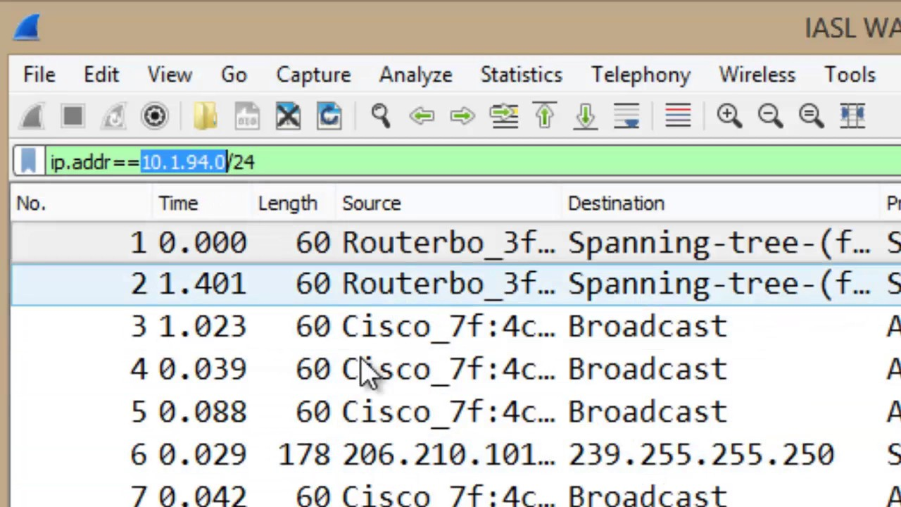 how to use wireshark to find ip address