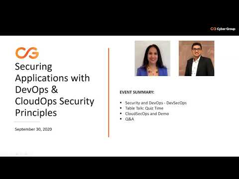 Securing Applications with DevOps & CloudOps Security Principles | Bits & Bytes Webinar On-Demand