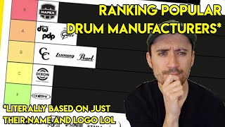 DRUM MANUFACTURER TIER LIST! RANKING MODERN DRUM COMPANIES (based on logo and name and nothing else)