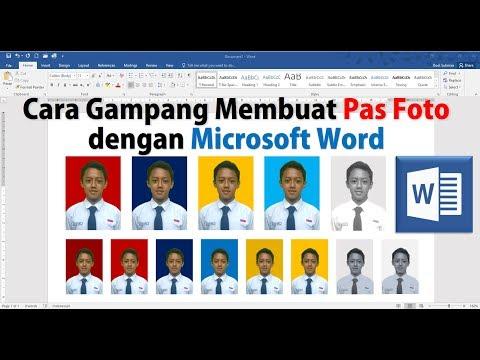 Cara Membuat Pas Foto dengan Microsoft Word