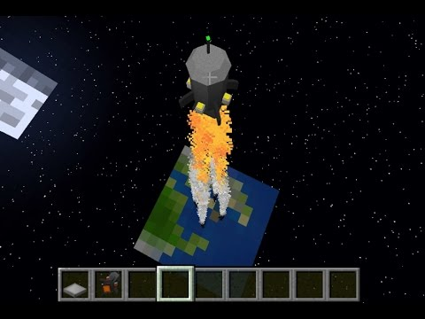 Minecraft: How to make a Rocket Ship that goes to Outer