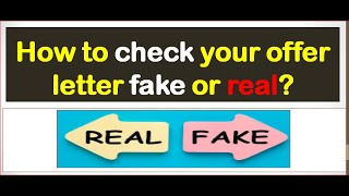 How To Identify if a Job Offer is Real or Fake|Fake Job Offer: How To Recognise