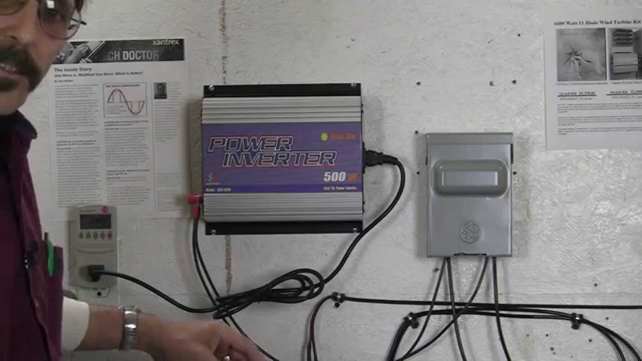 Sun grid tie inverter plug and play install  YouTube