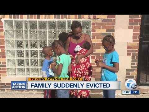 Mother of six kicked out of Detroit home she was renting