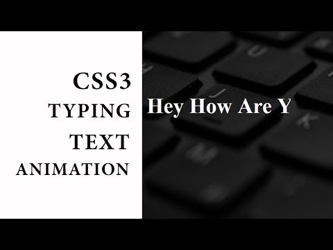 CSS3 Typing Text animation tutorial | CSS3 Animation Snippets
