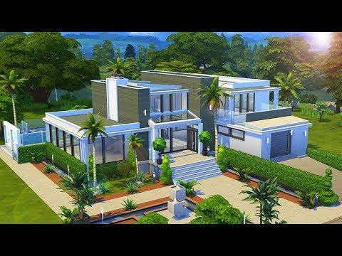 MODERN DREAM HOME   MR. COLLABS EP.3 w/ Thomas TV   NO CC The Sims 4 Speed Build