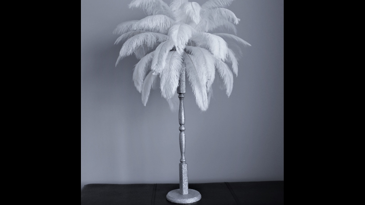 Diy Ostrich Feather Centerpiece