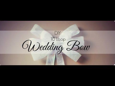 DIY 10 Loop Wedding Bow