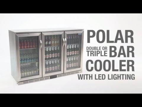 Polar Back Bar Cooler With Hinged Doors Stainless Steel 208Ltr & 330Ltr (GL008 & GL009)