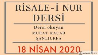 18.04.2020 Risale-i Nur Dersi