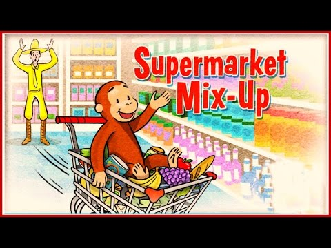 ♡ Curious George / Jorge el Curioso - Supermarket Mix-up Funny Pattern Video Game For Kids English