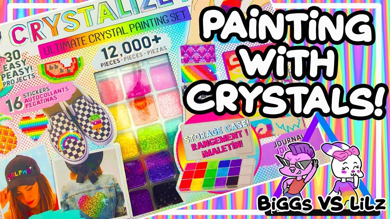 How To Paint With Crystals Ultimate Crystalize It Craft Kit By Fashion Angels Youtube