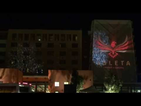 on media group 3d projection mapping isleta albuquerque new mexico