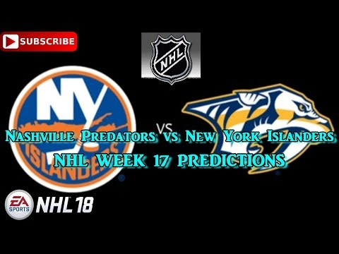Nashville Predators vs New York Islanders | #NHL 2017 - 2018 week 17 | Predictions #NHL18