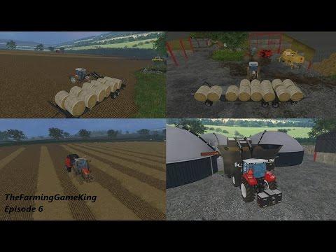 Farming Simulator 2015 | Melbury Estate | Episode 6 | Bale transport | Straw syringes | Dutch