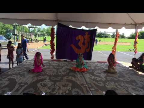 Little girls dance on Krishna song