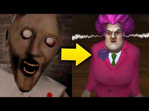 видео: Теперь новая Бабка Злая Учительница Мисс Ти! - Scary Teacher 3D