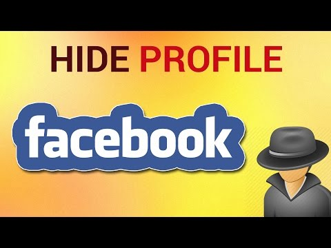 Can you hide your profile photo on facebook