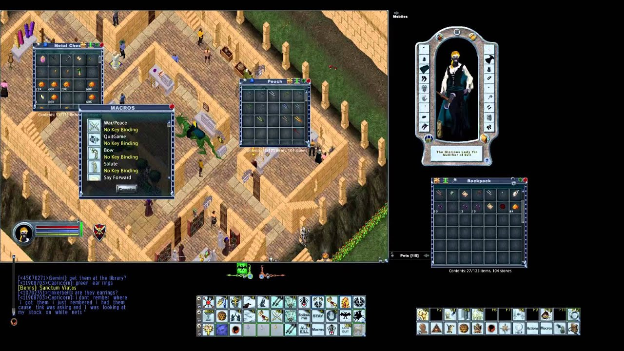 Ultima Online sword sampire with Giggles  by Pebbles8382
