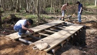 Building A Log Bridge - Gopro Timelapse
