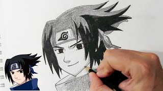 Comment dessiner Sasuke Uchiha de Naruto - Dessin Anime et Manga