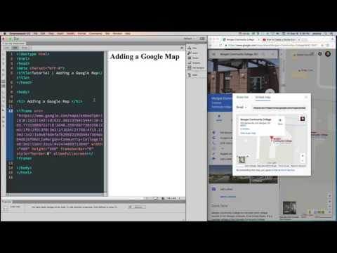 HTML - How To Embed A Google Map