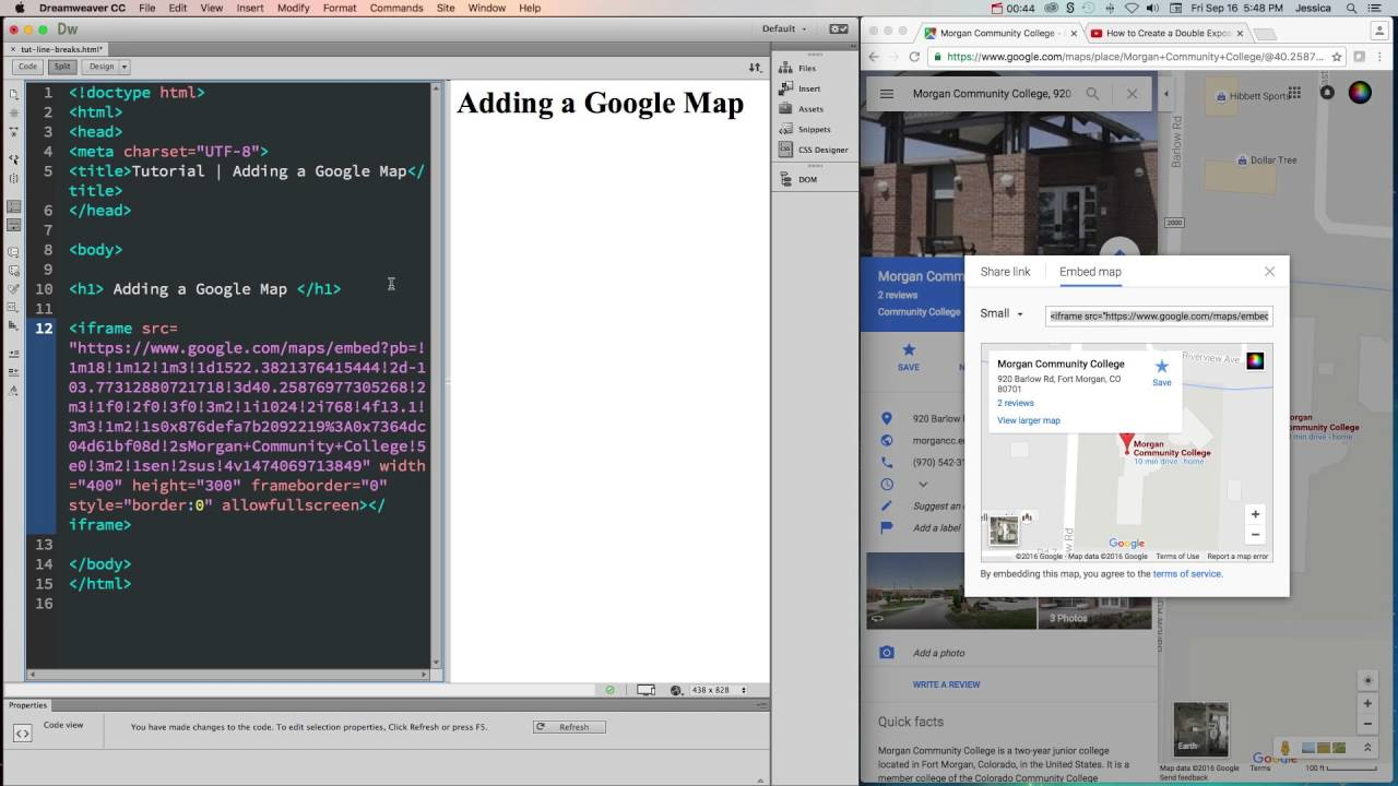 HTML - How to Embed a Google Map Google Map Html Embed on address google map, insert google map, copy google map, export google map, map google map, share google map, twitter google map, small google map,