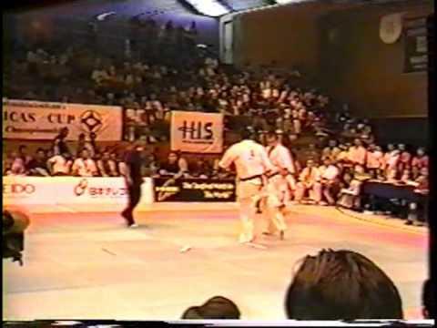 極真会館 1999年アメリカズカップ 樋口恵士 2回戦 (Kyokushin Americans Cup 1999 Satoshi Higuchi Vs Florescu Gabriel) 滋賀空手