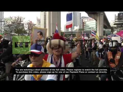 Thailand: Protesters rally against Shinawatra ahead of elections