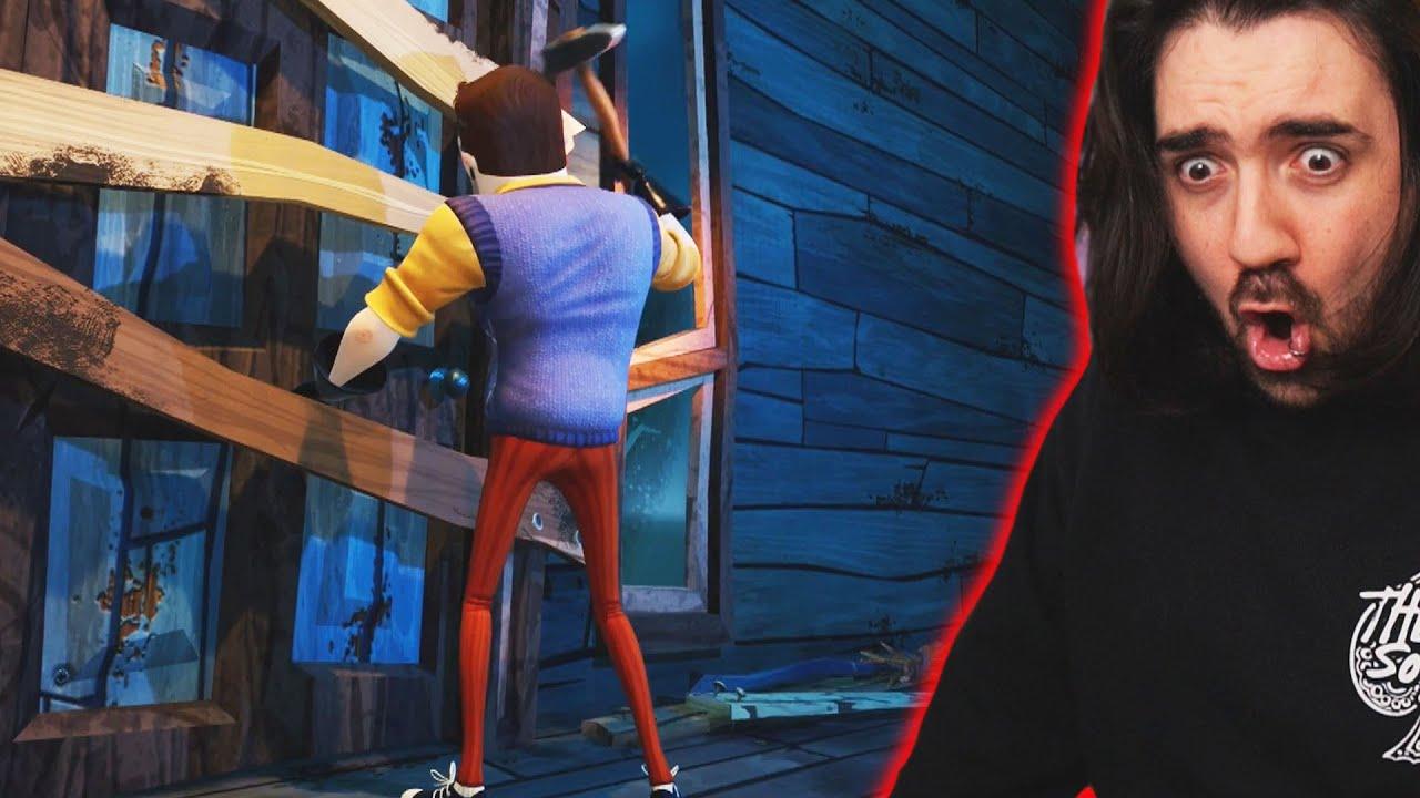 REACCIONO A HELLO NEIGHBOR 2 NUEVO TRAILER DEL E3 ! EL VECINO ESTA VIVO Y TIENE NUEVA CASA OMG!!