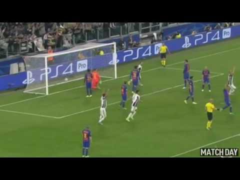 Gol de Giorgio Chiellini • Juventus 3 Barcelona 0 • UEFA Champions League 2016/17