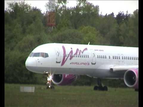 B757 Vim airlines and Tu-204 Kras Air at Pardubice Airport (LKPD)