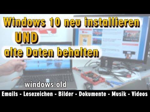 windows-10-neu-installieren-ohne-datenverlust---alte-daten-behalten---emails-dokumente---[4k]