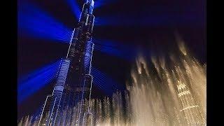 Грандиозное световое шоу в Дубае занесенное в книгу рекордев Гиннесса