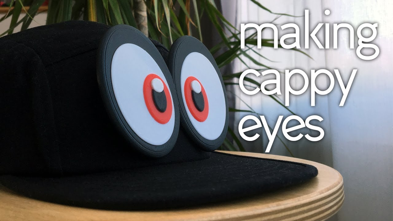Turn Any Hat Into Cappy 3d Printed Mario Odyssey Cappy Eyes Youtube