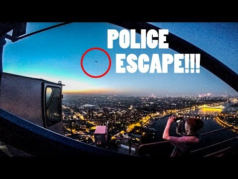 CRAZY ESCAPE FROM POLICE HELICOPTER (LONDON)