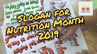 Mataliknow's TV | Slogan Nutrition Month 2019: Kumain ng wasto at maging aktibo... push natin to!